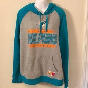 NFL Team Apparel Dolphins Hoodie